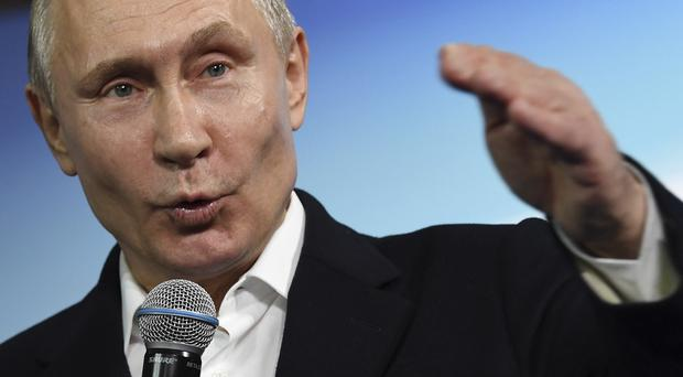 Russian President Vladimir Putin (Yuri Kadobnov/Pool Photo via AP)