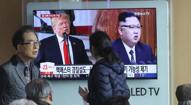 Officials have discussed how to achieve a complete denuclearisation of the Korean Peninsula ahead of upcoming inter-Korean and US-North Korean summit talks (AP)