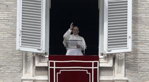 Pope Francis addresses the faithful in Rome