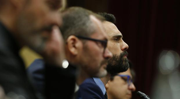 Roger Torrent, speaker of Catalan Parliament (Manu Fernandez/AP)