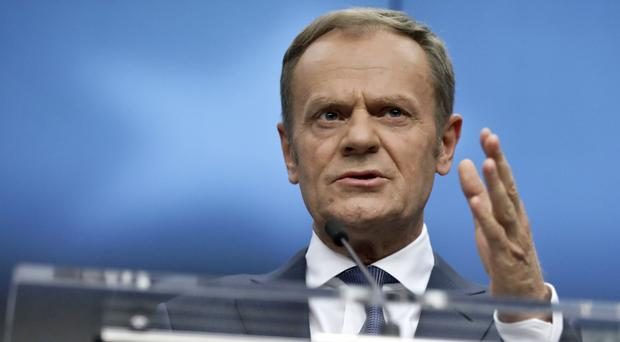 European Council president Donald Tusk (Olivier Matthys/AP)