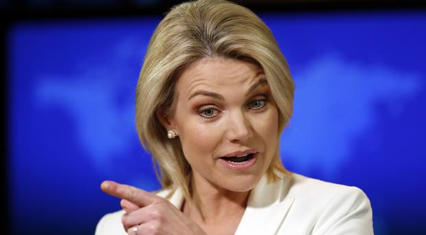 US State Department spokeswoman Heather Nauert said Russia should not be acting like a victim (Alex Brandon/AP)