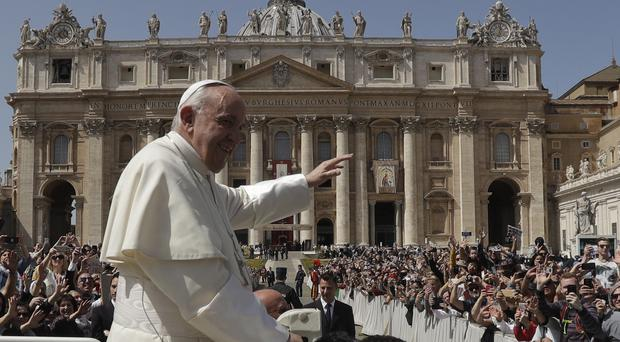 Pope Francis leaves St Peter's Square (AP Photo/Gregorio Borgia)