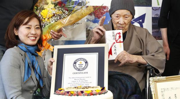 The oldest man of the planet is a 112-year-old Japanese