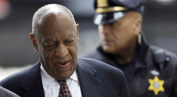 Bill Cosby arrives for his sexual assault trial (AP Photo/Matt Slocum)