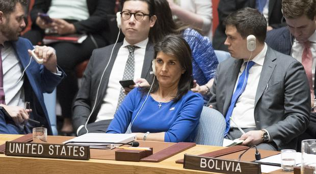 American Ambassador to the United Nations Nikki Haley (Mary Altaffer/AP)