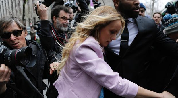 Stormy Daniels arrives at federal court (Seth Wenig/AP)