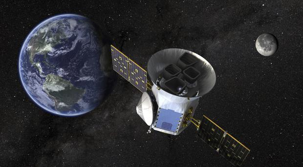 An illustration of the Transiting Exoplanet Survey Satellite (Nasa/AP)