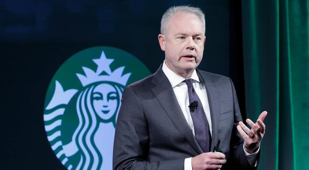 Starbucks president Kevin Johnson (Richard Drew/AP)