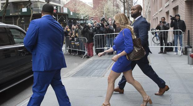 Stormy Daniels leaves ABC Television Studios (Mary Altaffer/AP)