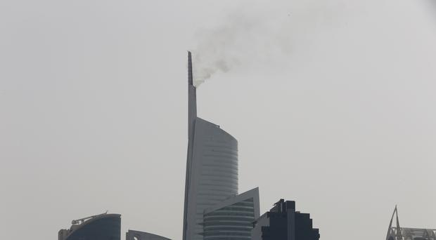 Fire breaks out at Almas Tower in Dubai