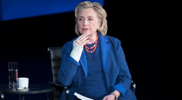 Hillary Clinton speaks during the ninth annual Women in the World Summit in New York (AP)