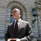 Jeffrey Kerr, general counsel for Peta, speaks to reporters outside the 9th US Circuit Court of Appeals (AP Photo/Jeff Chiu, File)
