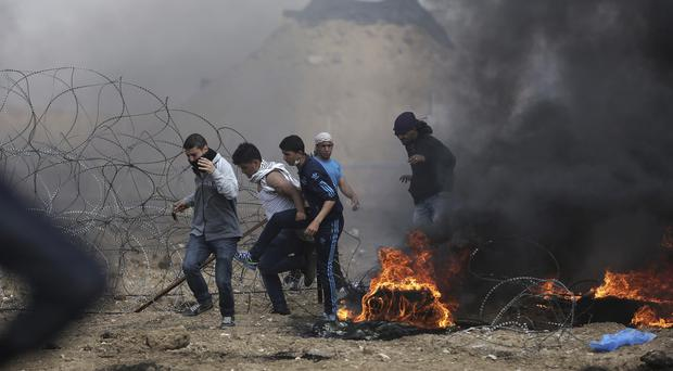 Palestinian protesters