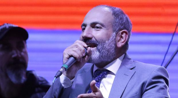Nikol Pashinian has been named Armenian prime minister (AP)