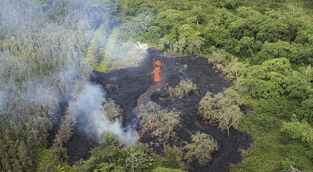 A fissure on Hawaii's Big Island (Hawai'i County Fire Department/AP)