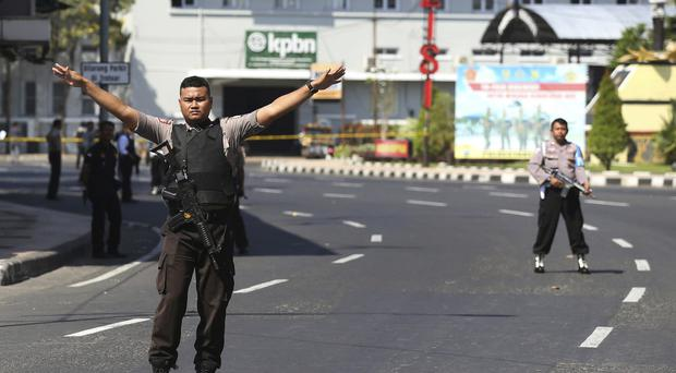 Road blocks were set up in the wake of the bombings (AP)