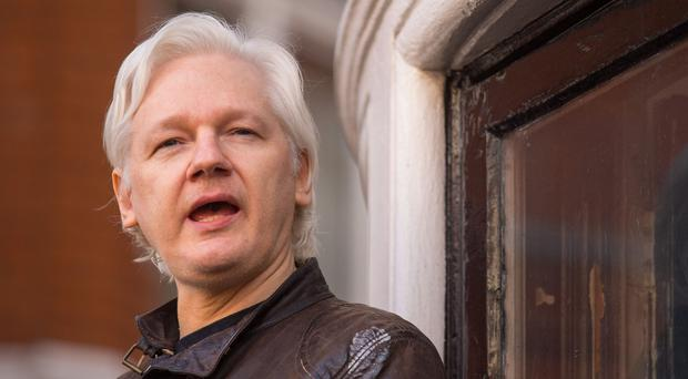 Ecuador's government cut off Julian Assange's internet connection in March following his activity on social media (Dominic Lipinski/PA)