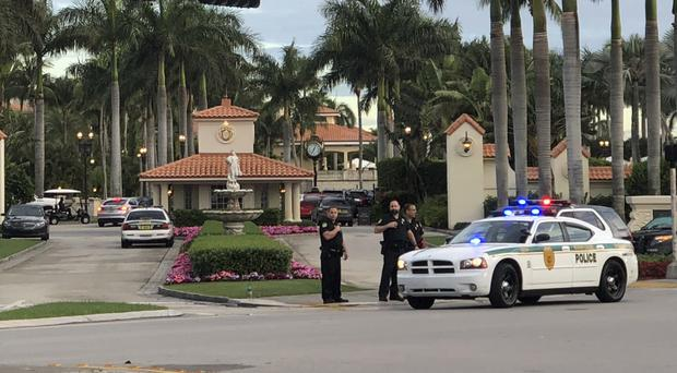 Police at the Trump National Doral resort