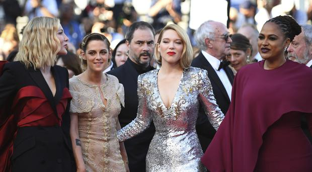 Jury members Cate Blanchett, from left, Kristen Stewart, Lea Seydoux and Ava Duvernay pose for photographers (Arthur Mola/AP)