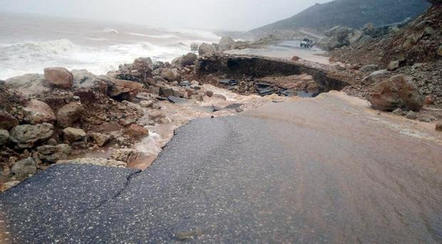 Heavy rain and strong winds caused damage in Hadibu
