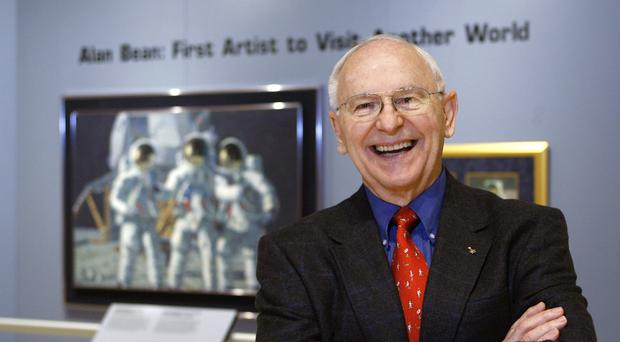 Alan Bean was the fourth man to walk on the moon (Harry Cabluck/AP)
