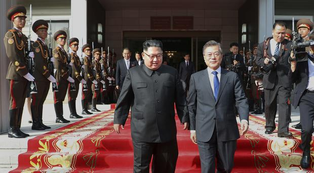 South Korea expressed relief over revived talks for a Trump-Kim meetin (South Korea Presidential Blue House via AP)