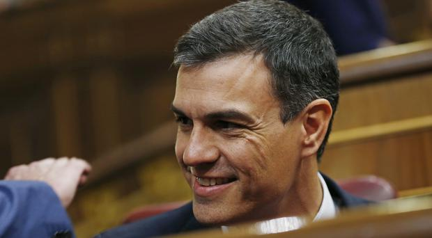 Pedro Sanchez is now prime minister-in-waiting (AP)