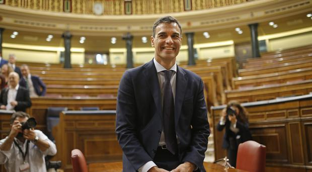 Socialist leader Pedro Sanchez is Spanish prime minister-in-waiting (AP)