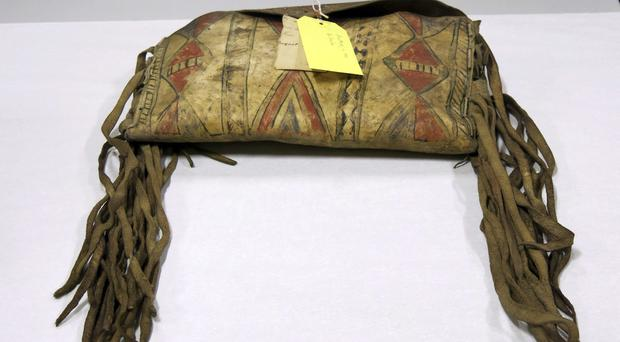 A purse collected by the Rev Robert Summers from the Confederated Tribes of the Grand Ronde in the 1870s (Gillian Flaccus/AP)