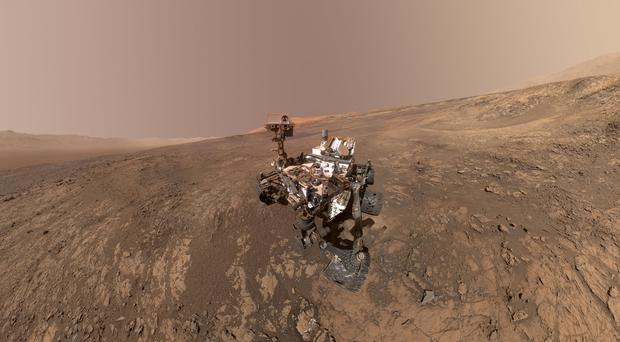A self-portrait of Nasa's Curiosity Mars rover on Vera Rubin Ridge (Nasa/JPL-Caltech/MSSS via AP)