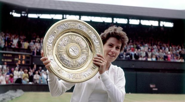 Maria Bueno celebrates winning the Ladies' Singles title at Wimbledon (Don Morley/Empics Sport)