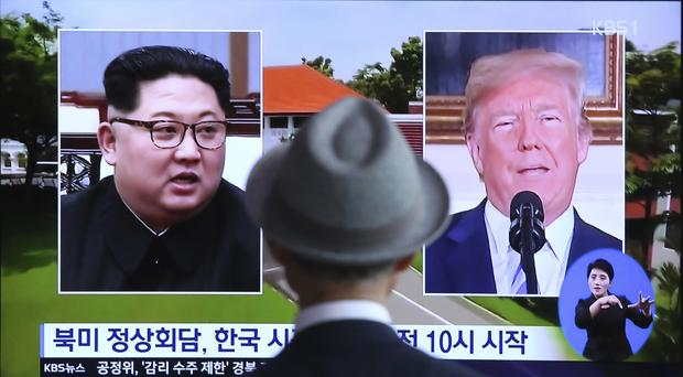 US President Donald Trump and North Korean leader Kim Jong Un are preparing for a historic summit (Ahn Young-joon/AP)