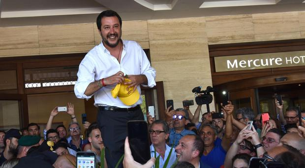 Interior minister Matteo Salvini has taken a hard line on migrants in Italy (AP)