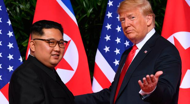 North Korea's leader Kim Jong Un and US President Donald Trump