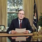 President George HW Bush addressing the nation in 1989 (Barry Thumma/AP