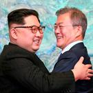 North Korean leader Kim Jong Un and South Korean President Moon Jae-in (Korea Summit Press Pool/AP)