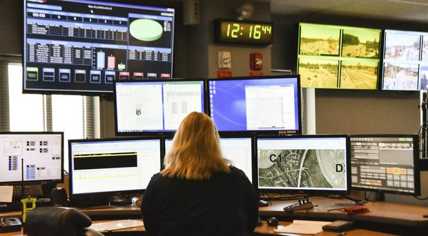 A 911 call station (Lisa Marie Pane/AP)