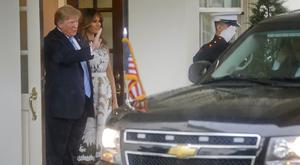 President Donald Trump and first lady Melania at the White House (Pablo Martinez Monsivais/AP)