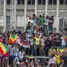 Ethiopians rally in solidarity with Prime Minister Abiy Ahmed in Meskel Square in the capital, Addis Ababa (AP Photo/Mulugeta Ayene)