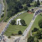 The US/Canadian border crossing at Blaine, Washington (Elaine Thompson/AP)