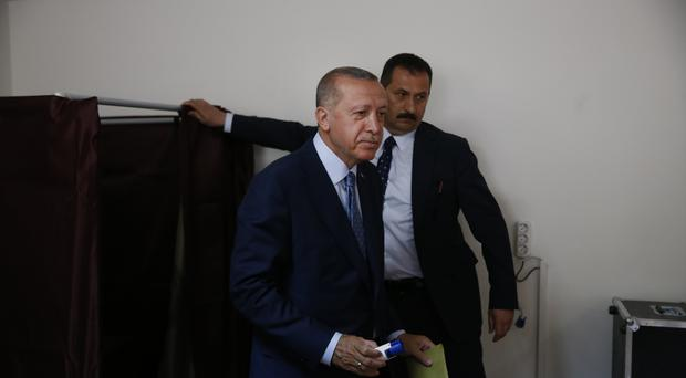 Recep Tayyip Erdogan is seeking re-election (Lefteris Pitarakis/AP)
