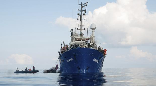 The ship is operated by the German NGO Mission Lifeline (AP)