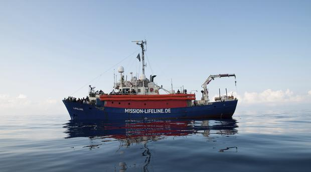 Weather conditions are exacerbating the situation aboard the vessel (AP)
