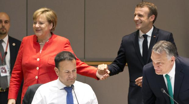 EU leaders met to agree a strategy on dealing with the processing of migrants into Europe (AP Photo/Virginia Mayo)
