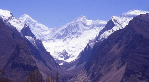 The team had been climbing the Ultar Sar Peak in the Hunza Valley David Archer/Newcastle University/PA)