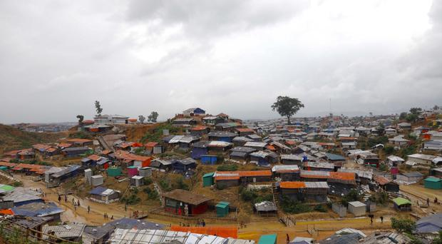 A view of the Kutupalong Rohingya refugee camp (AP)