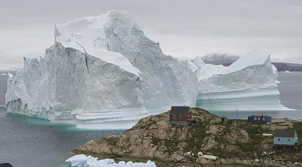 The iceberg is said to be grounded on the sea floor (AP)