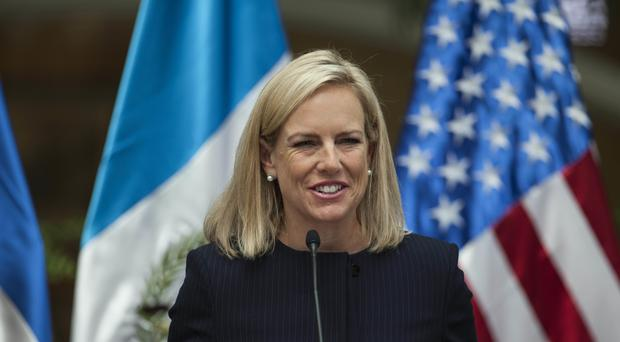 Kirstjen Nielsen said Russia is not planning to target this year's US midterm elections (Oliver de Ros/AP)