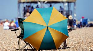 The woman was impaled by a beach umbrella (Jonathan Brady/PA)
